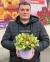 Шляпная коробка с зелеными орхидеями 0
