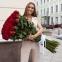51 красная роза высотой 1 метр 0