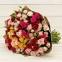 Букет из разноцветных кустовых роз 2