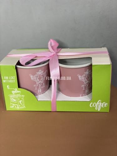 Чашки парные розовые (2 шт)
