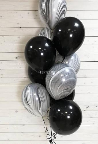Черно-белые шары 11 шт