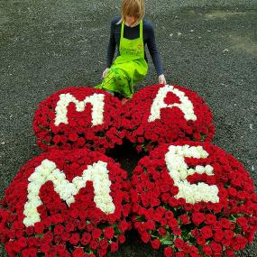 1001 роза для любимой мамы