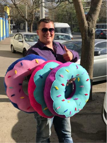 Декоративная подушка Пончик в ассоритменте
