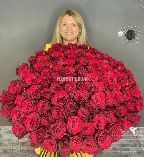 Супер - хит , 101 Роза высота 100 см
