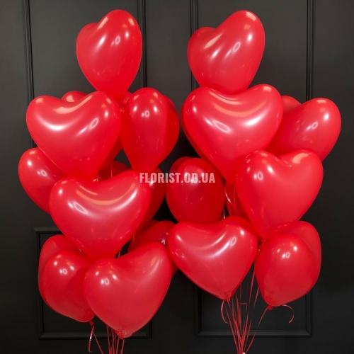 Красные сердца 21 штука
