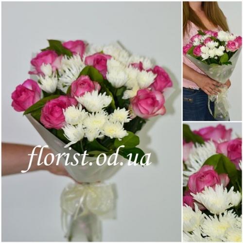 Букет из розовых роз Аромат цветов