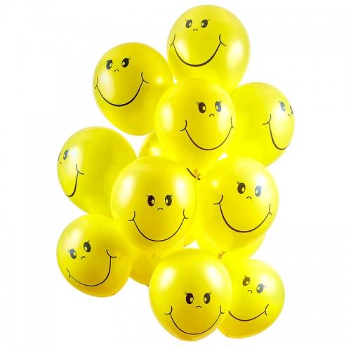 Воздушные шары с гелием Смайлики (15 шт)