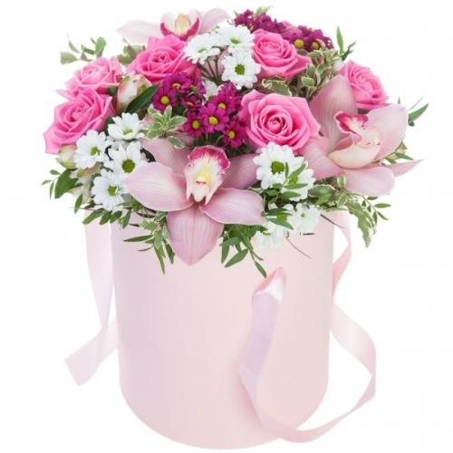 Цветы в коробке-20