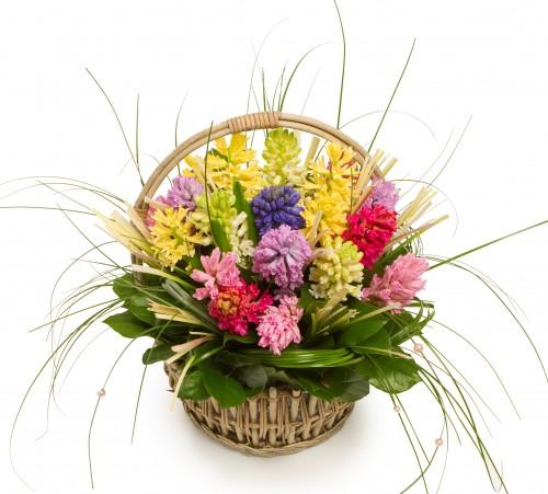 Корзина цветов Сердечко