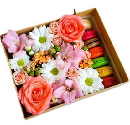 Сладкие макароны и цветы