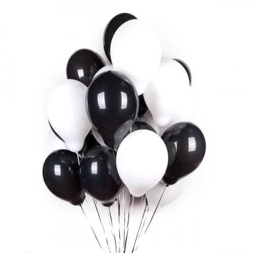 Облако из черно-белых шаров