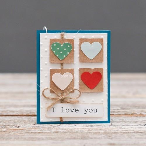 Мини открытка Я люблю тебя