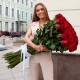 51 красная роза высотой 1 метр