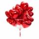 Фольгированые шары сердце с гелием 15 штук
