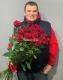 25 эквадорских роз 100 см