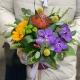 Шляпная коробка с экзотическими цветами